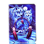 For Apple iPad 4 3 2 Case Cover Wolf Pattern Card Stent PU Material Flat Protection Shell