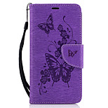 For LG K7 K8 Case Cover Pressed Butterfly Pattern PU Leather Case Leather Case