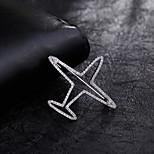 Women's Boys´ Other Brooches Rhinestone Euramerican Personalized Gold Plated Alloy Airplane Silver Jewelry For Daily Casual