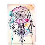 For Apple iPad 4 3 2 Case Cover Wind Chimes Pattern Card Stent PU Material Flat Protection Shell
