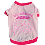 Dog Vest Dog Clothes Summer Flower Cute Fashion Casual/Daily Red Blushing Pink