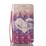 For Huawei P9 Lite P8 Lite (2017) Card Holder Wallet with Stand Flip Pattern Case Full Body Case Heart Hard PU Leather