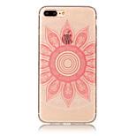 Para iphone 7 mais 7 tpu material imd processo rosa taro padrão telefone caso 6s mais 6 mais 6s 6 5s 5 se 5c