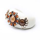 Women's Cuff Bracelet Jewelry Friendship Fashion Alloy Flower White Jewelry For Birthday Gift Valentine 1pc