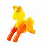 Jigsaw Puzzles 3D Puzzles Building Blocks DIY Toys Horse Wood Model & Building Toy