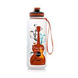Guitarra de dibujos animados y saxofón botella de agua 1500ml