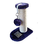 Cat Toy Interactive Scratch Pad Durable Wood Sisal Blue