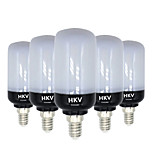 HKV® E14 E26/E27 8W 81 LED 5736 SMD 700-800Lm Warm White Cold White LED Corn Lights AC 220-240 V 5Pcs