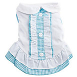 Dog Dress Dog Clothes Summer Princess Cute Fashion Casual/Daily Light Blue Blushing Pink