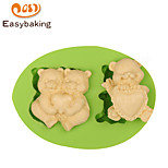 Animal Mould LOVE ME Teddy Bears Fondant Silicone Molds for cake decorating Colour Random