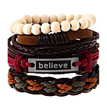 Europe And The United States Wind Simple Retro Woven Leather Bracelet