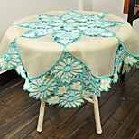 Sunflower Embroidery Tablecloth 85X85CM(34X34 Inches) Squre Cut Work Embroidery Table Cover