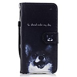 For Huawei P8 lite 2017 Mate9 Card Holder Wallet with Stand Flip Pattern Case Full Body Case Dog Hard PU Leather for Honor 5C 7 8 Y5 II Y6 II Y560