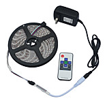 JIAWEN Waterproof 5M RGB Flexible LED Strip Light w/ RF Controller and DC12V 2A Power Adapter