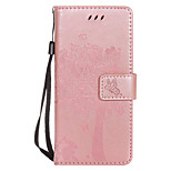 For Huawei P10 Lite P10 PU Leather Cat and Tree Pattern Phone Case P8 Lite (2017) Y6 P10 Plus Mate 9 P9 Lite P8 Lite