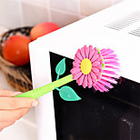 1Pcs  Creative & Funny  Flowers Sunflower Brush With Stand Kitchen Cleaning Brush Pot Kitchen Cooking Tools Kitchen Artifact