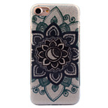 For Apple iPhone 7 7 Plus 6S 6 Plus Case Cover Datura Flowers Pattern Acrylic Backplane TPU Frame Flash Powder Phone Case