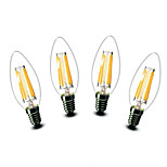 ® Shenmeile 4.5W E14 LED Candle Lights C35 6 COB 500 lm Warm White Decorative AC 220-240 V 4 pcs