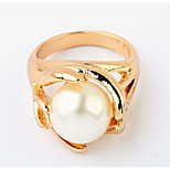 Korean Style Quietly Elegant Temperament  Concise  Pearl Ring Movie Jewelry