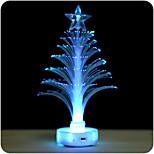 2 stk. 7-fargeledd mini fiber gjennomsiktig lysende juletre lys (tilfeldig farge)