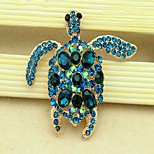 Women's Girls´ Brooches Euramerican Fashion Personalized Rhinestone Glass Alloy Crown Rainbow Black Blue Red Purple Jewelry ForWedding