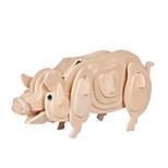 Jigsaw Puzzles 3D Puzzles Building Blocks DIY Toys Pig Wood Model & Building Toy