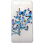 For Huawei P10 P9 Lite Case Cover Butterfly Pattern High Transparent TPU Material IMD Craft Mobile Phone Case P8 Lite 2017