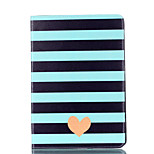 For Apple iPad 4 3 2 Case Cover Striped Love Pattern Card Stent PU Material Flat Protection Shell