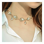 Women's Choker Necklaces Rhinestone Drop Rhinestone Alloy Euramerican Fashion Personalized Jewelry ForSpecial Occasion Business Daily