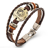 Unsex Vintage Pisces Weave Leather Bracelet   Jewelry For Daily 1 pc