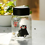 Mini 300ml de vidrio viaje cómodo botella de agua de la historieta drinkware