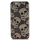 For Apple iPhone 7 7Plus Case Cover Pattern Back Cover Case Skull Soft TPU 6s Plus 6 Plus 6s 6