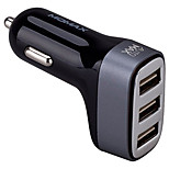 MOMAX Car Charger Patented Double Side Insert USB Port(3 Port 5V 4.4 A)