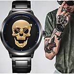 Punk 3D Skull Retro Sport Watch Fashion Watch Bracelet Watch Unique Creative Watch Men Waterproof 30m Steel Stainless Quartz Watch Relogio Masculino