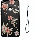 For Huawei P8 Lite (2017) P10 Case Cover Flower Pattern Fuel Injection Relief Plating Button Thicker TPU Material Phone Case P10 Lite P10 Plus