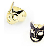 Korean Style  Punk Halloween Personality Double Color Mask Ring