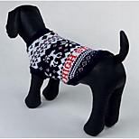 Dog Sweater Dog Clothes Winter Geometic Fashion Casual/Daily Fuchsia