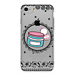 For Translucent Case Back Cover Case Lace Printing Soft TPU for AppleiPhone 7 Plus iPhone 7 iPhone 6s Plus iPhone 6 Plus iPhone 6s iPhone