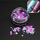 1Bottle Romantic Fashion Nail Art Glitter Round Paillette Nail Art DIY Beauty Round Slice Decoration Sweet Design P21