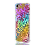 For Apple iPhone 7 Plus 7 Case Cover Shockproof Plating Translucent Pattern Back Cover Lace Printing Color Gradient Flower Soft TPU 6Plus 6s Plus 6s 6