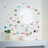 Cartoon Bubble Fish Bathroom Decoration Wall Stickers