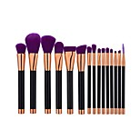 15 Makeup Brush Set Eyelash Brush dyeing Brush Powder Brush Foundation Brush Other Brush Nylon Professional Travel Full Coverage