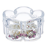 Acrylic Transparent Large Capacity Flower Shaped Makeup Cosmetics Jewelry Storage Box Cosmetic Organizer Jewelry Display Box with Lid