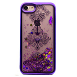 For iPhone 7 7 Plus Case Cover Plating Flowing Liquid Pattern Back Cover Case Flower Glitter Shine Soft TPU for 6S 6 Plus 6S SE 5S