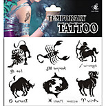 Set of 6 Pcs Temporary Tattoos Chest Body Animal Series 3D Rose Waterproof Tattoos Stickers Non Toxic Glitter Large Fake Tattoo Halloween Gift 22*15cm