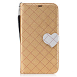 For Moto G4 Plus Moto G4 Case Cover The New Grid Pattern Pattern Love Buckle PU Material Hit Color Phone Case