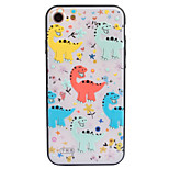 For Apple iPhone 7 7 Plus 6S 6 Plus Case Cover Cartoon Pattern Crystal Relief Acrylic Backplane TPU Frame Combo Phone Case