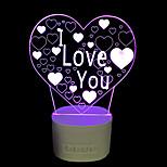 1 pc la lampada notturna del controllo 3d del manopola del bluetooth del regalo delle famiglie domestiche cinque colori