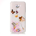 For LG G6 Case Cover Butterfly Love Flowers And Cats Pattern Painted Relief High Penetration TPU Material Phone Case