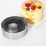 Stainless steel Round Mousse Circle DIY Cake Mold Set Baking Tools Biscuit Mold 6pc/set